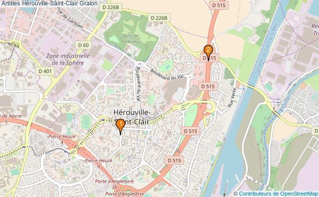 plan Antilles Hérouville-Saint-Clair Associations Antilles Hérouville-Saint-Clair : 2 associations