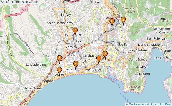 plan Antisémitisme Nice Associations antisémitisme Nice : 8 associations