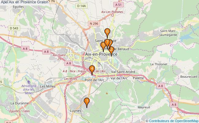 plan Apel Aix en Provence Associations apel Aix en Provence : 7 associations