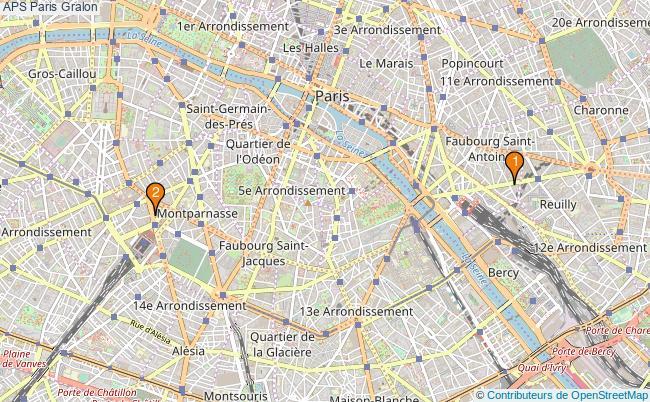 plan APS Paris Associations APS Paris : 3 associations