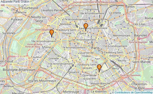 plan Aquarelle Paris Associations aquarelle Paris : 3 associations