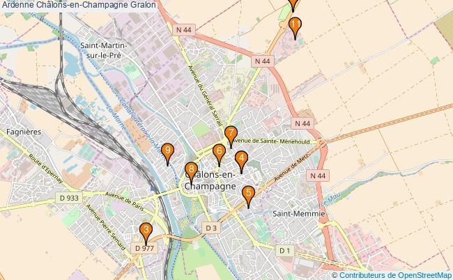 plan Ardenne Châlons-en-Champagne Associations Ardenne Châlons-en-Champagne : 11 associations