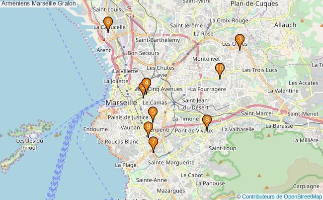plan Arméniens Marseille Associations arméniens Marseille : 10 associations