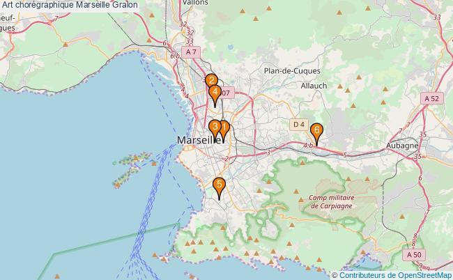 plan Art chorégraphique Marseille Associations art chorégraphique Marseille : 6 associations