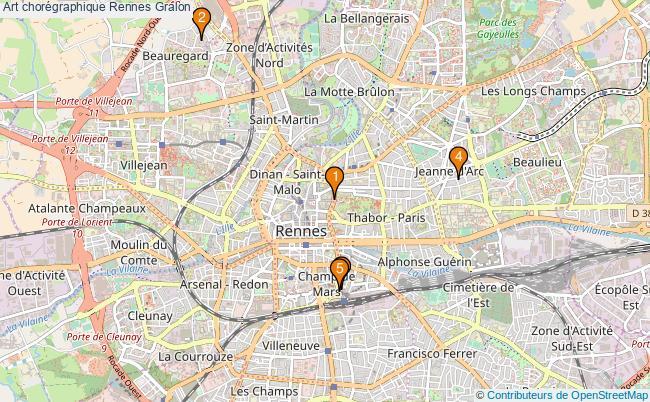 plan Art chorégraphique Rennes Associations art chorégraphique Rennes : 6 associations