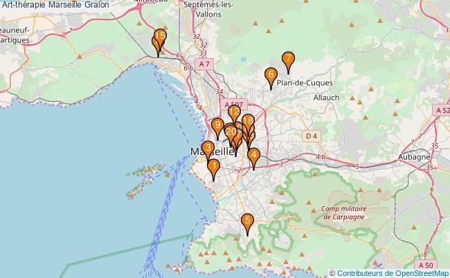 plan Art-thérapie Marseille Associations art-thérapie Marseille : 22 associations