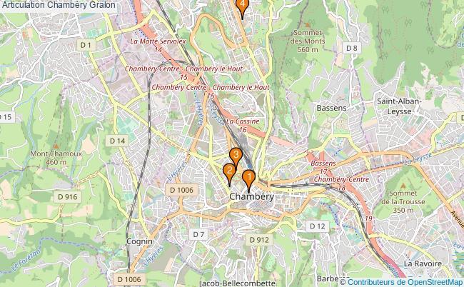 plan Articulation Chambéry Associations articulation Chambéry : 4 associations