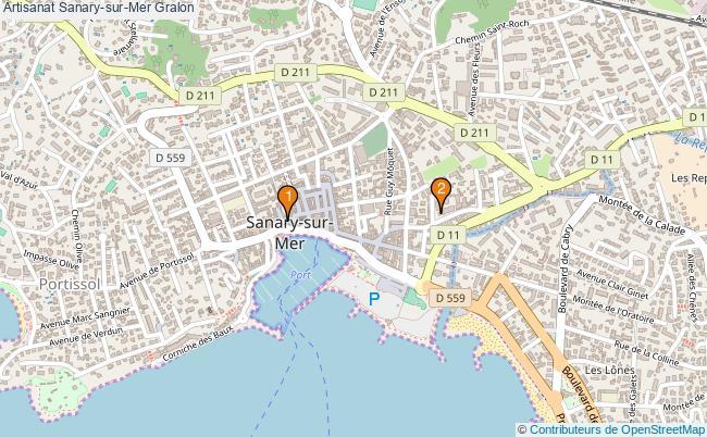 plan Artisanat Sanary-sur-Mer Associations artisanat Sanary-sur-Mer : 2 associations