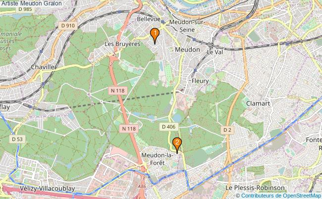 plan Artiste Meudon Associations artiste Meudon : 2 associations