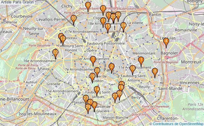 plan Artiste Paris Associations artiste Paris : 248 associations