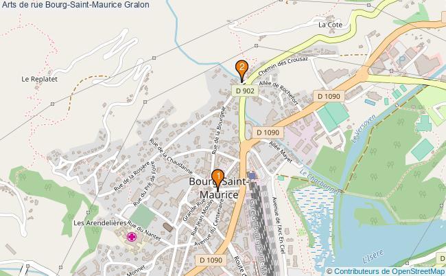 plan Arts de rue Bourg-Saint-Maurice Associations arts de rue Bourg-Saint-Maurice : 2 associations