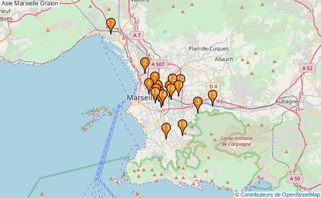 plan Asie Marseille Associations Asie Marseille : 22 associations