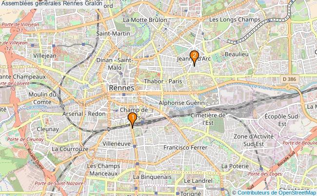 plan Assemblées générales Rennes Associations assemblées générales Rennes : 2 associations