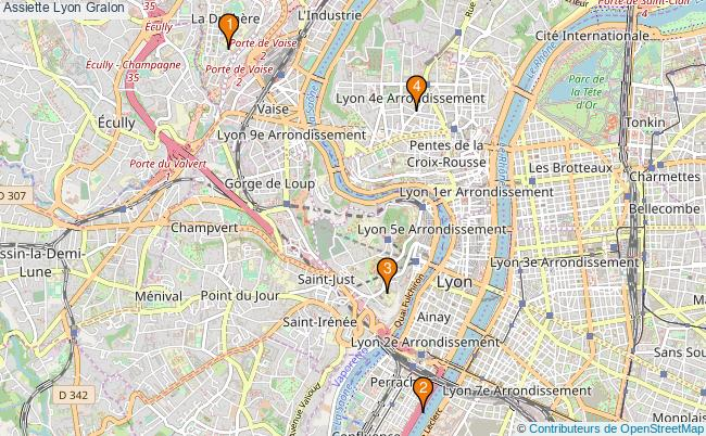 plan Assiette Lyon Associations assiette Lyon : 4 associations