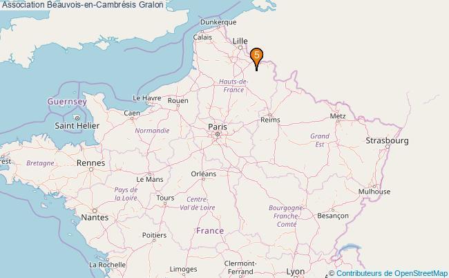 plan Association Beauvois-en-Cambrésis Associations association Beauvois-en-Cambrésis : 5 associations