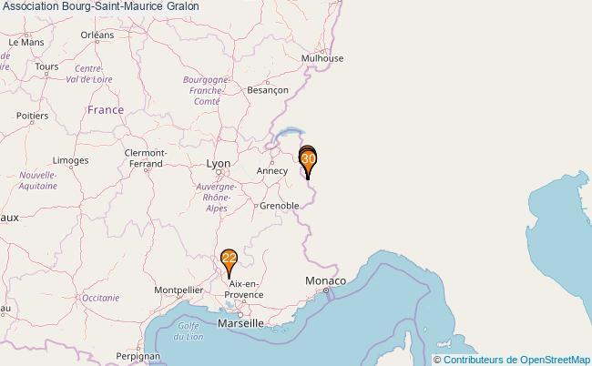 plan Association Bourg-Saint-Maurice Associations association Bourg-Saint-Maurice : 32 associations