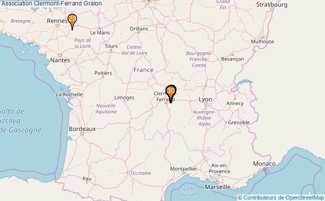 plan Association Clermont-Ferrand Associations association Clermont-Ferrand : 413 associations