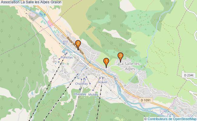plan Association La Salle les Alpes Associations association La Salle les Alpes : 3 associations