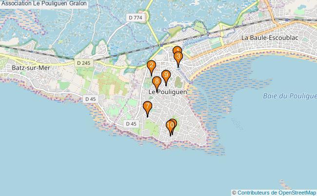 plan Association Le Pouliguen Associations association Le Pouliguen : 12 associations