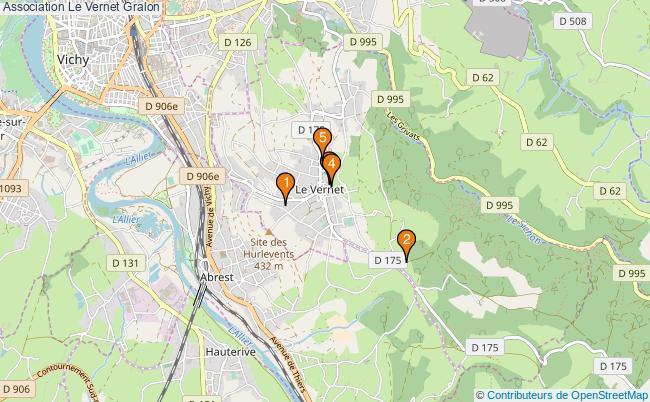 plan Association Le Vernet Associations association Le Vernet : 6 associations
