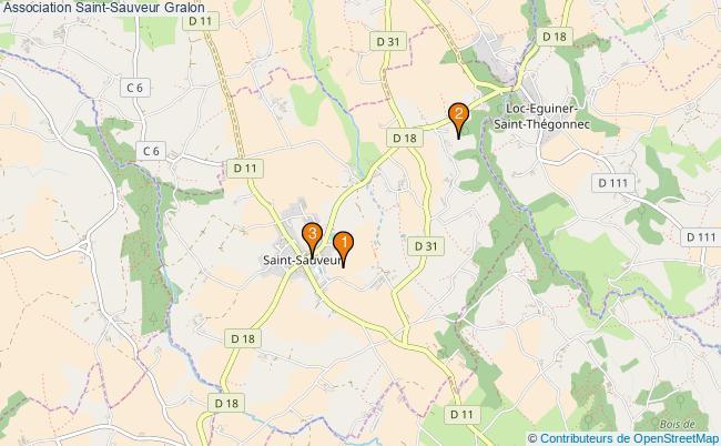 plan Association Saint-Sauveur Associations association Saint-Sauveur : 3 associations