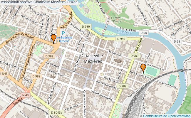 plan Association sportive Charleville-Mézières Associations association sportive Charleville-Mézières : 2 associations