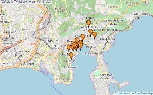 plan Association Villefranche-sur-Mer Associations association Villefranche-sur-Mer : 19 associations