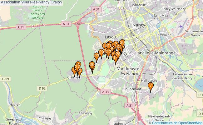plan Association Villers-lès-Nancy Associations association Villers-lès-Nancy : 58 associations