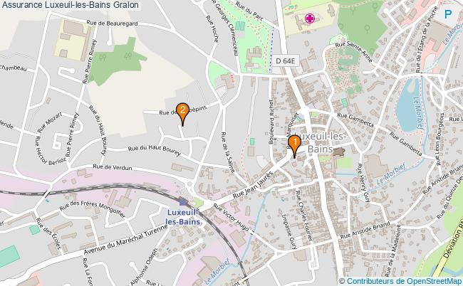 plan Assurance Luxeuil-les-Bains Associations assurance Luxeuil-les-Bains : 2 associations