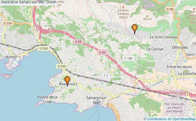 plan Assurance Sanary-sur-Mer Associations assurance Sanary-sur-Mer : 2 associations
