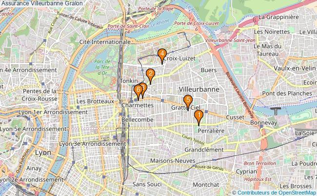 plan Assurance Villeurbanne Associations assurance Villeurbanne : 7 associations
