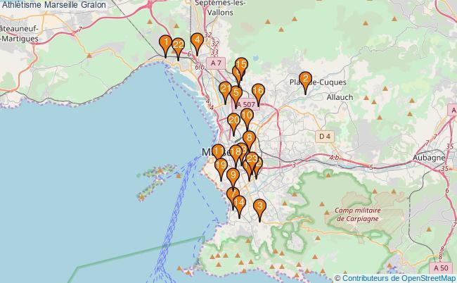 plan Athlétisme Marseille Associations Athlétisme Marseille : 23 associations