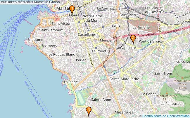 plan Auxiliaires médicaux Marseille Associations auxiliaires médicaux Marseille : 3 associations