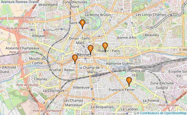 plan Aventure Rennes Associations Aventure Rennes : 6 associations