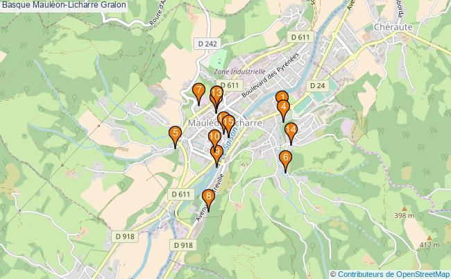 plan Basque Mauléon-Licharre Associations Basque Mauléon-Licharre : 16 associations