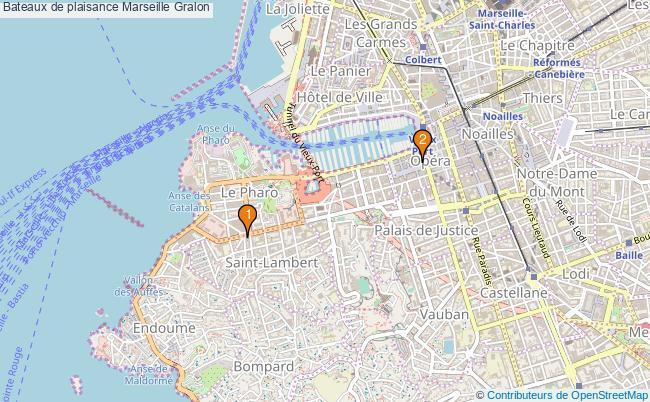 plan Bateaux de plaisance Marseille Associations bateaux de plaisance Marseille : 2 associations