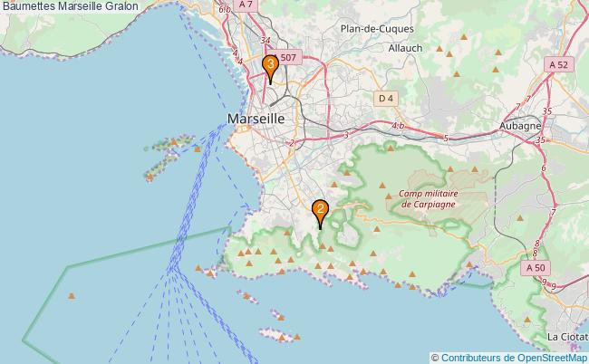 plan Baumettes Marseille Associations Baumettes Marseille : 3 associations