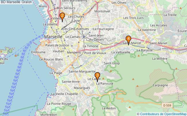 plan BD Marseille Associations BD Marseille : 4 associations