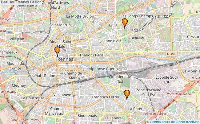 plan Beaulieu Rennes Associations Beaulieu Rennes : 3 associations