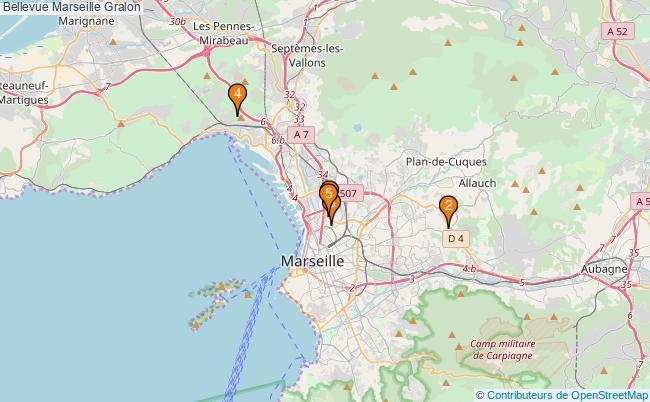 plan Bellevue Marseille Associations Bellevue Marseille : 5 associations