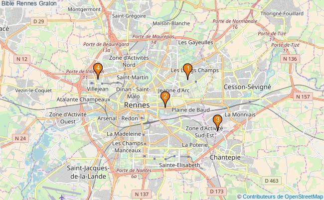 plan Bible Rennes Associations Bible Rennes : 4 associations