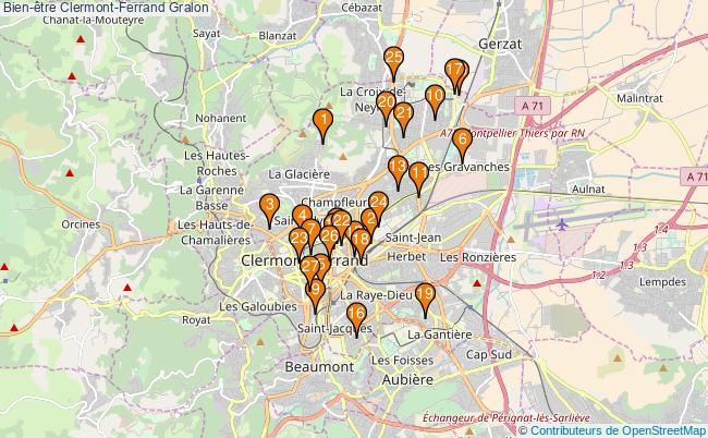 plan Bien-être Clermont-Ferrand Associations Bien-être Clermont-Ferrand : 30 associations