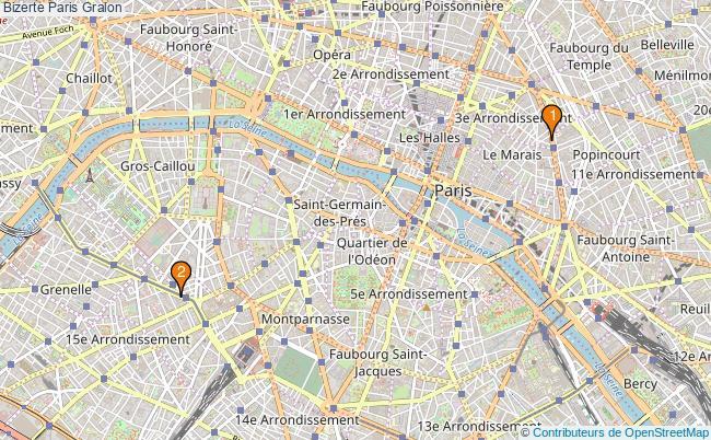 plan Bizerte Paris Associations Bizerte Paris : 2 associations