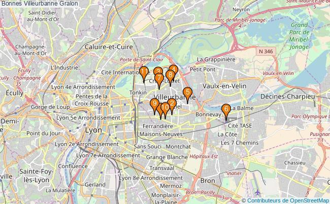 plan Bonnes Villeurbanne Associations Bonnes Villeurbanne : 13 associations