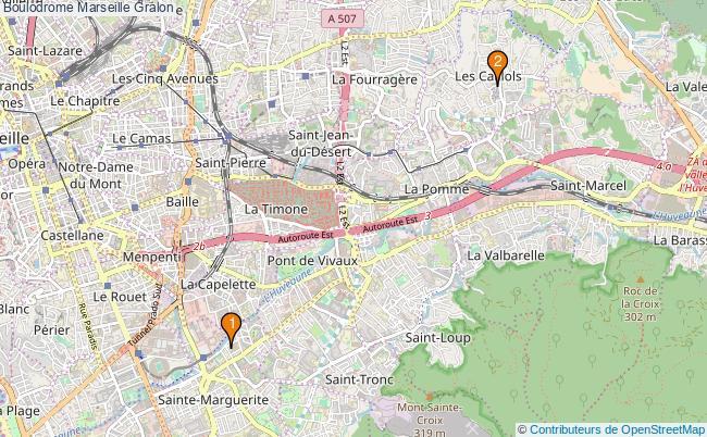 plan Boulodrome Marseille Associations boulodrome Marseille : 2 associations