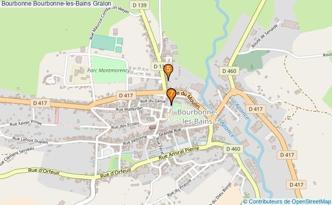 plan Bourbonne Bourbonne-les-Bains Associations Bourbonne Bourbonne-les-Bains : 7 associations