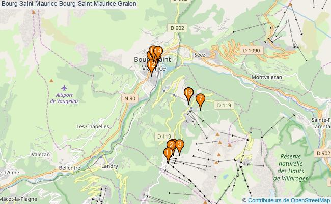plan Bourg Saint Maurice Bourg-Saint-Maurice Associations Bourg Saint Maurice Bourg-Saint-Maurice : 16 associations