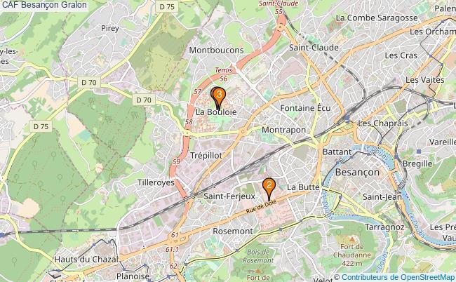 plan CAF Besançon Associations CAF Besançon : 3 associations