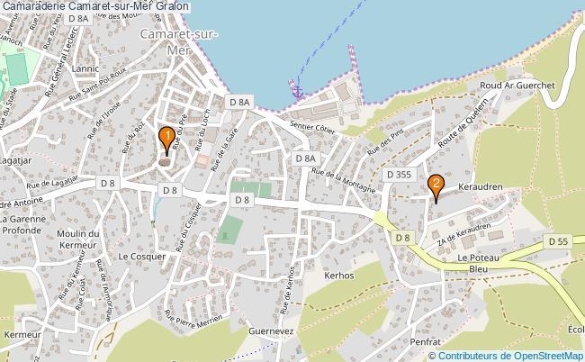 plan Camaraderie Camaret-sur-Mer Associations Camaraderie Camaret-sur-Mer : 2 associations