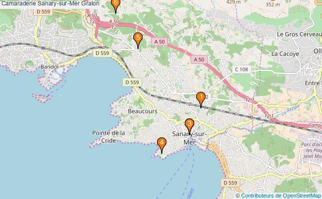 plan Camaraderie Sanary-sur-Mer Associations Camaraderie Sanary-sur-Mer : 6 associations